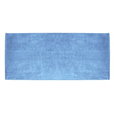 Terry Velour Premium Beach Towel Color: Sky Blue