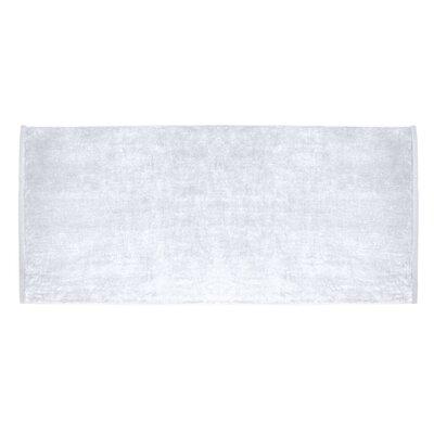 Terry Velour Premium Beach Towel Color: White