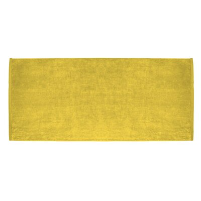 Terry Velour Premium Beach Towel Color: Yellow