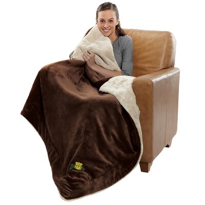 Polyester Throw Color: Chocolate