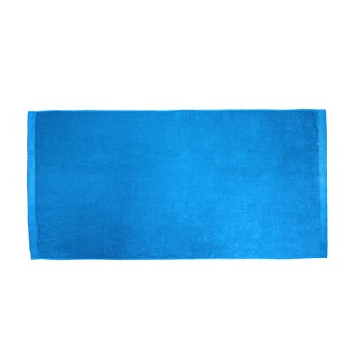 Terry Velour Beach Towel Color: Aqua