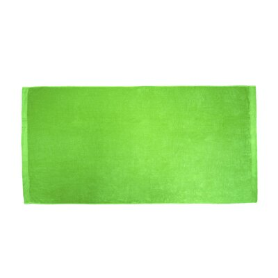 Terry Velour Beach Towel Color: Lime