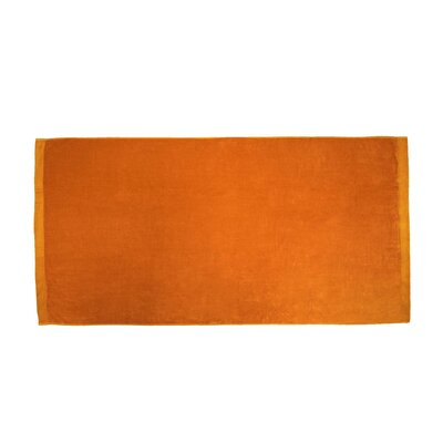 Terry Velour Beach Towel Color: Orange