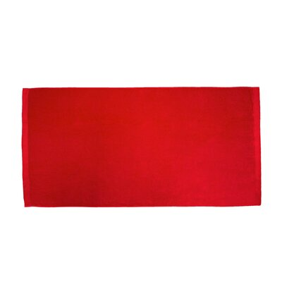 Velour Beach Towel Color: Red