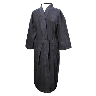 Terry Velour Bathrobe Color: Black