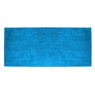 Terry Velour Premium Beach Towel Color: Aqua