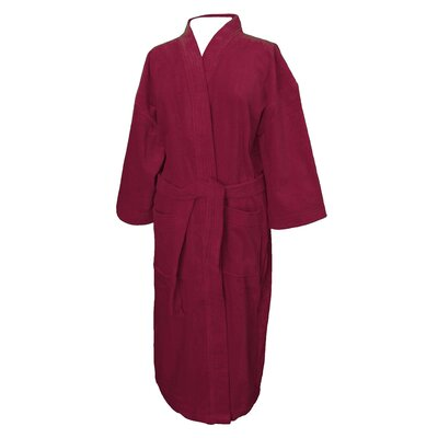Terry Velour Bathrobe Color: Burgundy