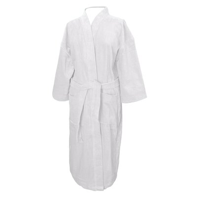 Terry Velour Bathrobe Color: White