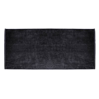Terry Velour Premium Beach Towel Color: Black