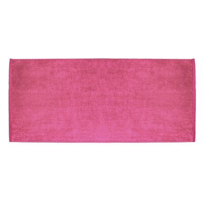 Terry Velour Premium Beach Towel Color: Hot Pink