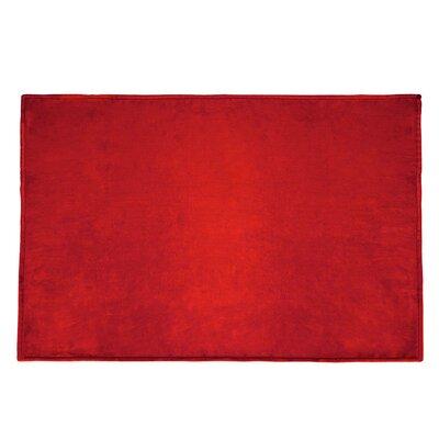 Tahoe Microfleece Throw Color: Red