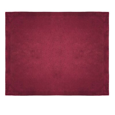 Micro Mink Sherpa Throw Color: Burgundy