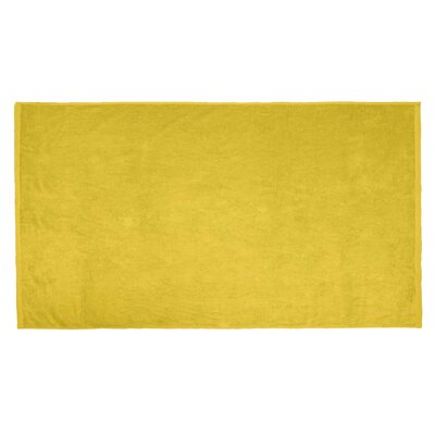 Terry Velour Beach Towel Color: Yellow