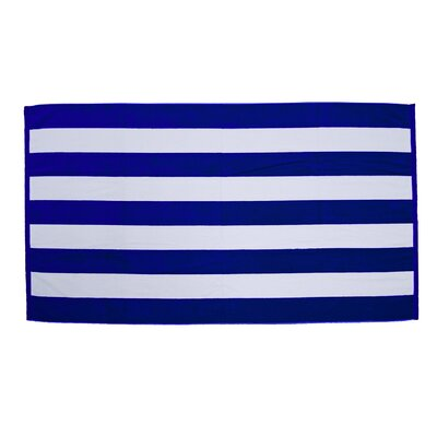 Velour Premium Cabana Beach Towel Color: Royal / White