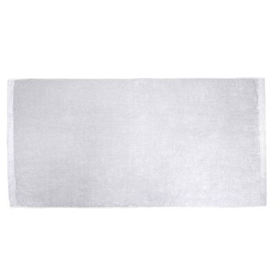 Terry Velour Beach Towel Color: White
