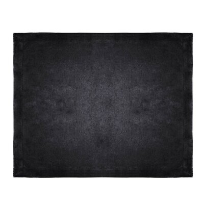 Micro Mink Sherpa Throw Color: Black