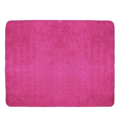 Tahoe Microfleece Throw Color: Hot Pink