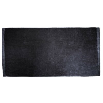 Terry Velour Beach Towel Color: Black