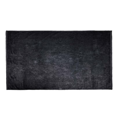 Velour Beach Towel Color: Black