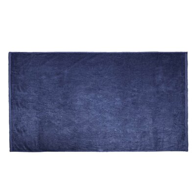 Velour Beach Towel Color: Navy