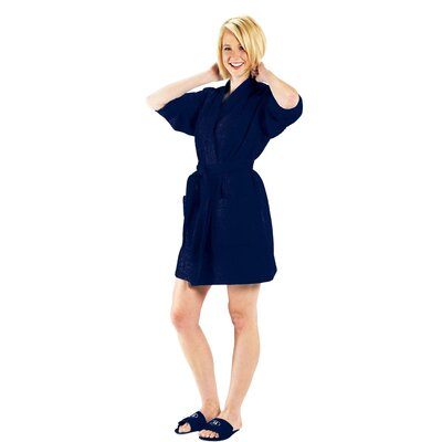 Bathrobe Color: Navy, Size: Large