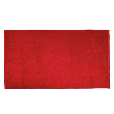 Terry Velour Beach Towel Color: Red
