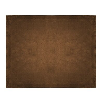 Micro Mink Sherpa Throw Color: Chocolate