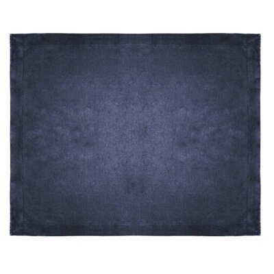 Micro Mink Sherpa Throw Color: Navy