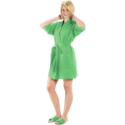 Bathrobe Color: Lime Green, Size: Large