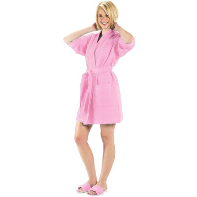 Bathrobe Color: Light Pink, Size: Large
