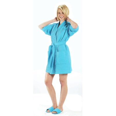 Bathrobe Color: Aqua, Size: Large