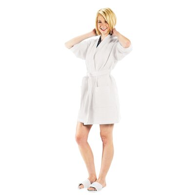 Bathrobe Color: White, Size: Large