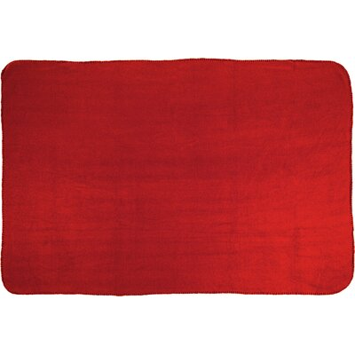 Tahoe Microfleece Throw Color: Red
