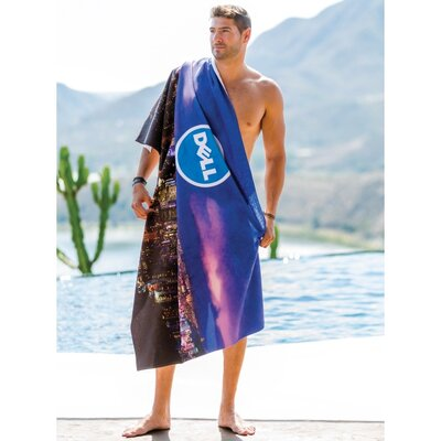Oversized Beach Towel Color: Aqua