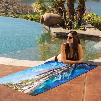 Anouk Oversized Beach Towel Color: Aqua