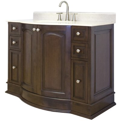 42 Single Traditional Bathroom Vanity Set Hardware Finish: Brushed Nickel