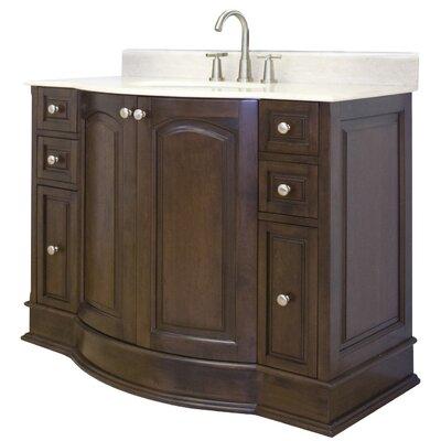 48 Single Traditional Bathroom Vanity Set Hardware Finish: Aluminum