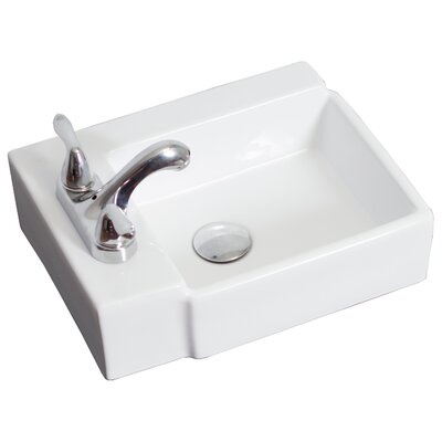 Ceramic Rectangular Vessel Bathroom Sink