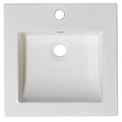 17 Single Bathroom Vanity Top Hardware Finish: Brushed Nickel, Faucet Mount: Single