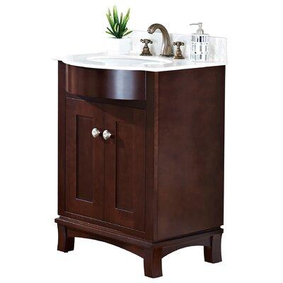 24 Single Transitional Bathroom Vanity Set Hardware Finish: Brushed Nickel
