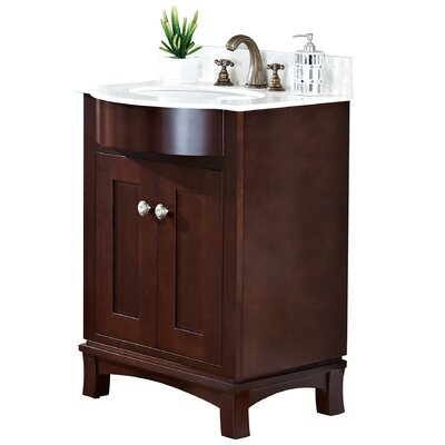24 Single Transitional Bathroom Vanity Set Hardware Finish: Brushed Nickel