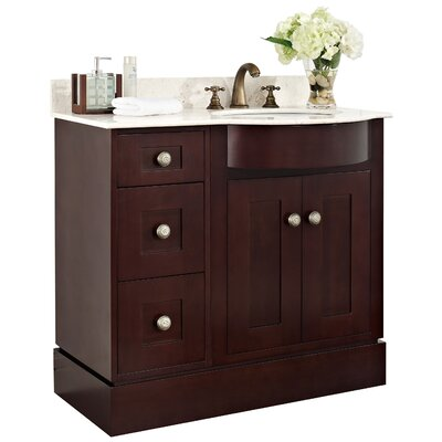 36 Single Transitional Bathroom Vanity Set Hardware Finish: Chrome