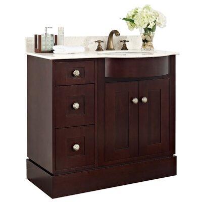 36 Single Transitional Bathroom Vanity Set Hardware Finish: Brushed Nickel