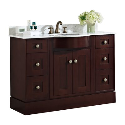 48 Single Transitional Bathroom Vanity Set Hardware Finish: Brushed Nickel