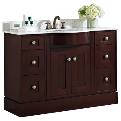 48 Single Transitional Bathroom Vanity Set Hardware Finish: Aluminum