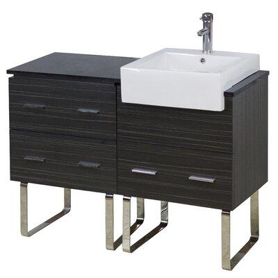 48 Single Modern Bathroom Vanity Set Hardware Finish: Chrome, Faucet Mount: Single