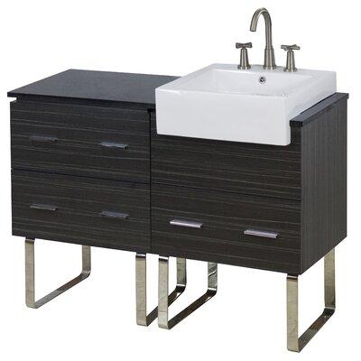 48 Single Modern Bathroom Vanity Set Hardware Finish: Brushed Nickel, Faucet Mount: 8 Off Center