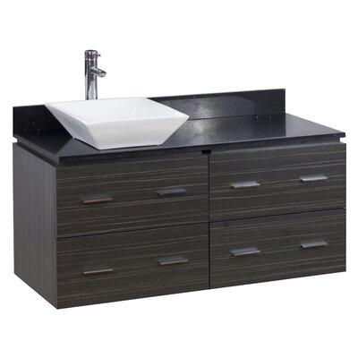 48 Single Modern Wall Mount Bathroom Vanity Set Hardware Finish: Brushed Nickel