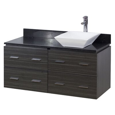 48 Single Modern Wall Mount Bathroom Vanity Set Hardware Finish: Chrome