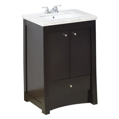 32 Single Transitional Bathroom Vanity Set Hardware Finish: Chrome, Faucet Mount: 4 Off Center